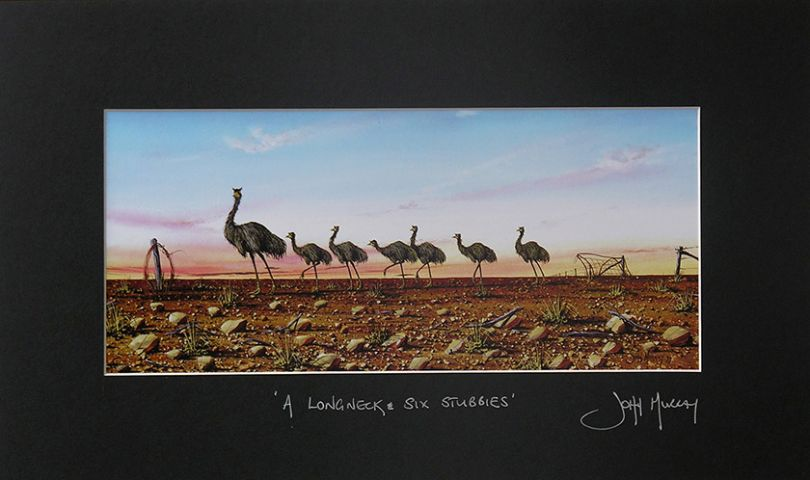 Example of a medium mounted print signed by John  Murray